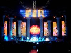 3d Effect Bookcase Wallpaper F I R Tenth Planet Tour Taipei Concert Stage Design
