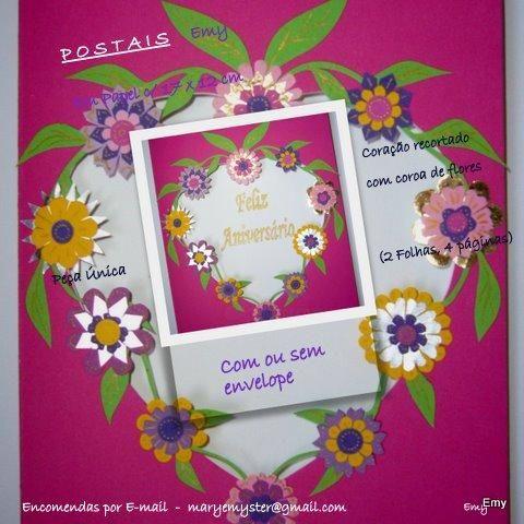 Postal Personalizado - Aniversário Artisanat par Emy Dias Artmajeur