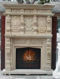 Large marble fireplace mantel