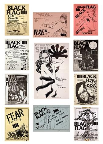 Ten Black Flag Flyers by Raymond Pettibon on artnet