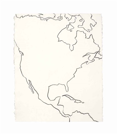 Map Outline of North, Central and Northern South America by Andy