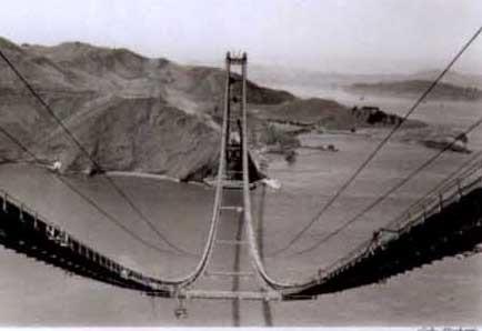 Golden Gate Bridge under construction by Peter Stackpole on artnet