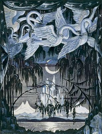 Illustration for The wild Swans by H C Andersen by Mstislav