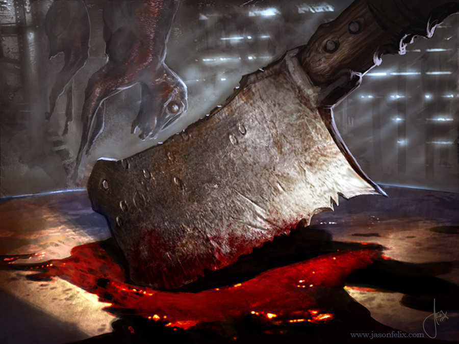 Girl In Blood Wallpaper Mtg Art Butcher S Cleaver From Innistrad Set By Jason