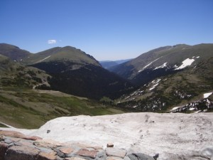 View of the Rockies from Trail Ridge Road, in the Rocky Mountain National Park