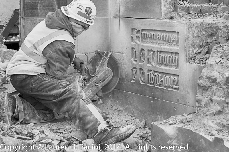 Beginning the Tack of Removing the Cornerstone