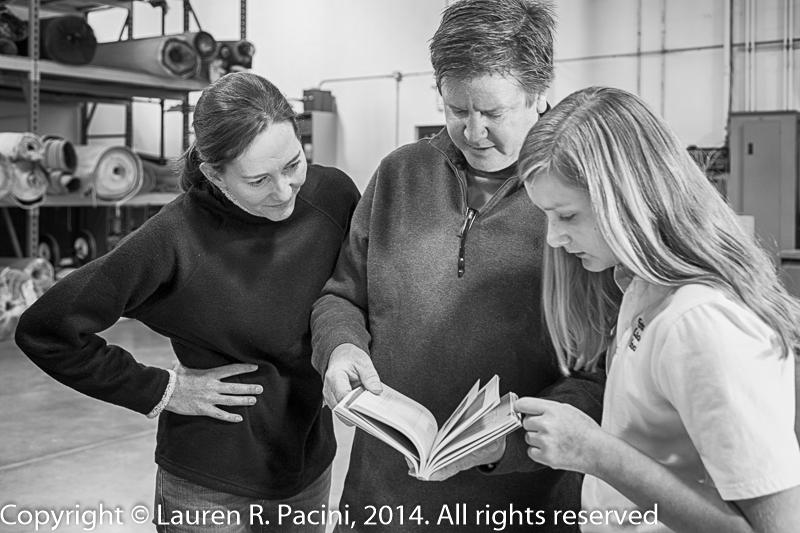 Karen Ritenour (left), Mike Ritenour (Lou Ritenour Industrial), and Alison Ritenour