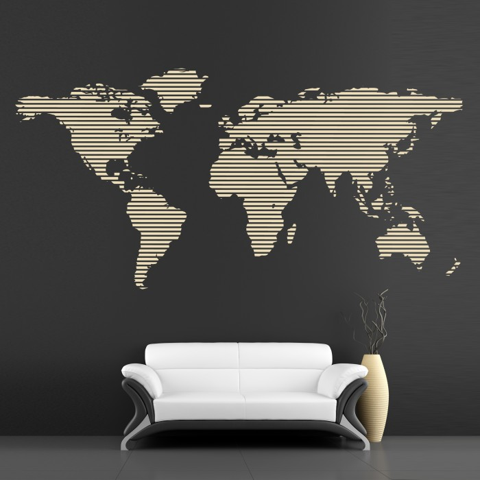 Dark Quote Wallpapers Cool Wall Decals Continents Big Map By Artollo