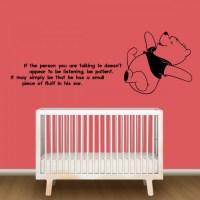 Winnie The Pooh Nursery Wall Decor - By Artollo