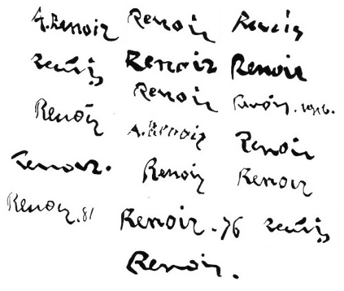 Renoir signatures Projects to Try Pinterest Renoir and Paintings - sample resume for painter