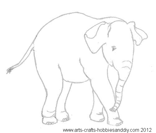 Free templates-free baby elephant templates - elephant cut out template