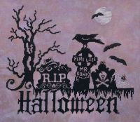 Graveyard Halloween - cross stitch pattern by Stoney Creek