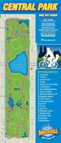 Bike Route Map for Central Park - Points of Interest