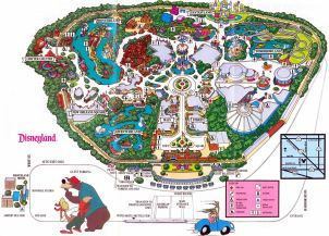 Vintage Disneyland map - How can you deal with so much info?