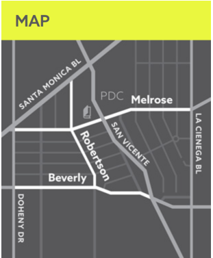 Simplified map of West Hollywood - Minimalism is Ok!
