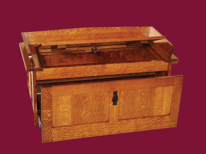 Amish Furniture Oak Toy Storage Bench Hall Seating Mission