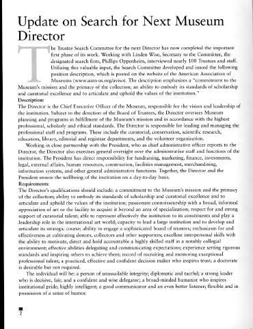 Text of Met Director\u0027s Job Description Could You Be the Next