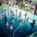 Ballet Class On A Basketball Court In A Rio Favela