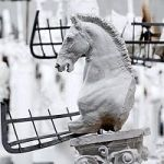 Sculptor To Place 55 Enormous Horses In Front Of Colosseum In Rome (It's All About Refugees)