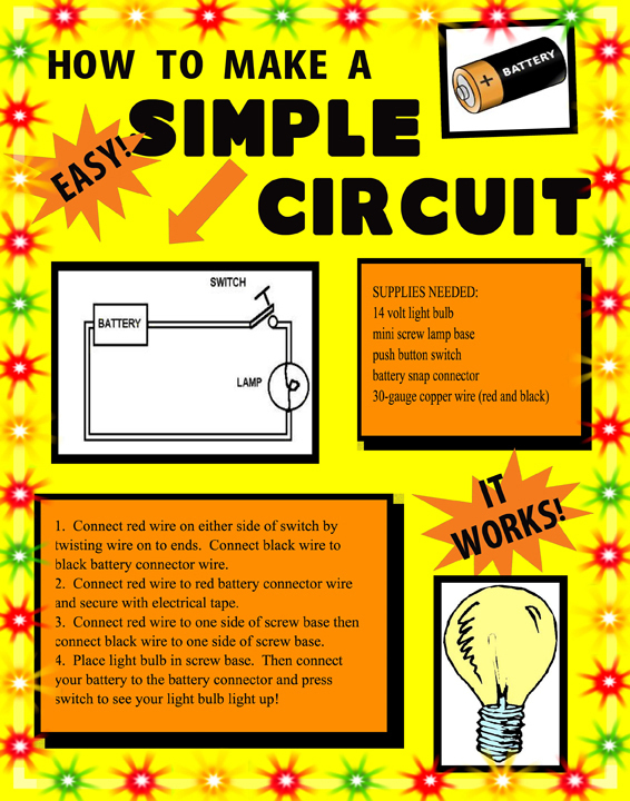 Make a Science Fair Project Poster ideas - Simple Battery Circuit