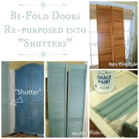 Repurposed Bi-Fold Doors (Duck Egg Blue Chalk Paint ...