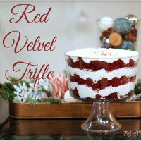 Red Velvet Trifle {a recipe for the holidays}