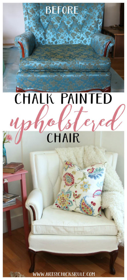 Thrifty French Chair Makeover (Annie Sloan Chalk Paint) - Artsy