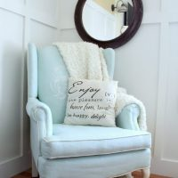 Painted Upholstered Chair Makeover {Chalk Paint}