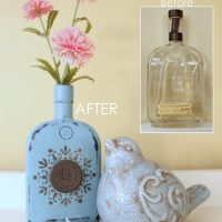 Easy, DIY Chalk Painted Bottles {w/Oil Rubbed Bronze}