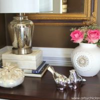A Decorating Challenge - How to Shop Your Home (Foyer Table - Part 1)