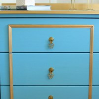 Fancy Blue & Gold Chest - IKEA Rast Hack