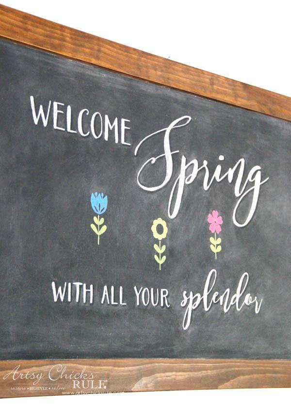 DIY Farmhouse Inspired Chalkboard - (a Tutorial, Spring Chalk Art