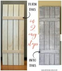 DIY Weathered Wood Shutters (Farmhouse Style) - Artsy ...