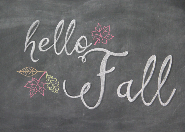 Autumn Chalkboards Collection - Life With Lorelai cvfreeletters