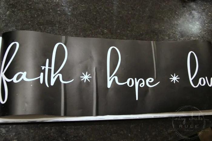 DIY Faith Hope Love Sign (and FREE Printable!) - Artsy Chicks Rule