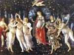 """Primavera"", 1482, 80 x 124 inches, tempera on panel, by Sandro Botticelli."