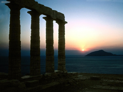 Patterns For Girls Wallpaper High Defintion Sunset Ruins Seas Hills Greece Roman Empire Palace Sounion
