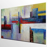 Canvas Painting, Large Canvas Art, Wall Art, Original