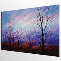 Abstract Art, Colorful Sky Painting, Oil Painting ...