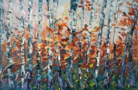 Modern Art, Wall Painting, Birch Tree Wall Art, Abstract ...