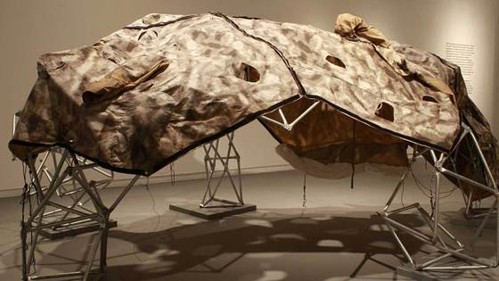 Wearable shelter structure