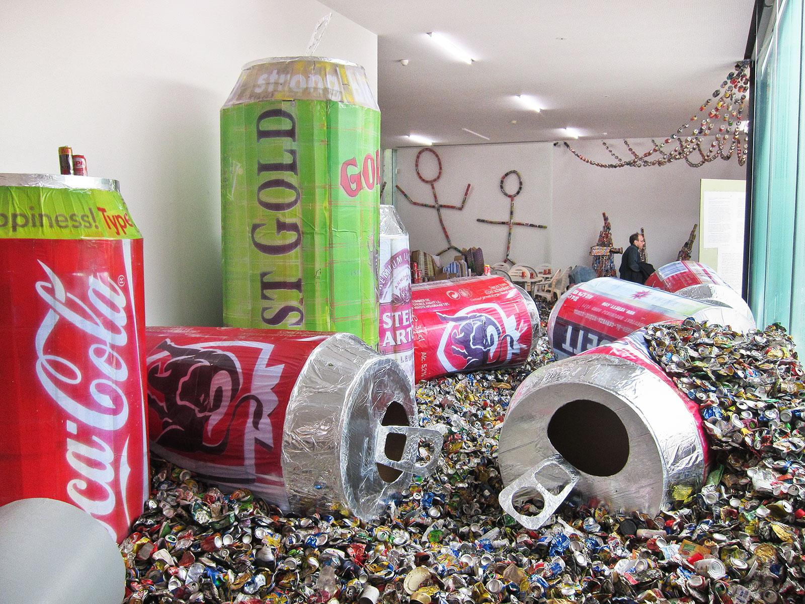 deluge of aluminum cans