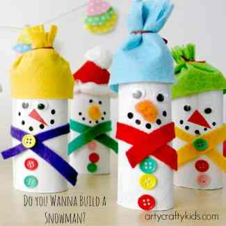 Arty Crafty Kids - Craft - Christmas Craft for Kids - Paper Roll Snowman