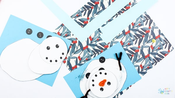 Melting Snowman Paper Craft Arty Crafty Kids
