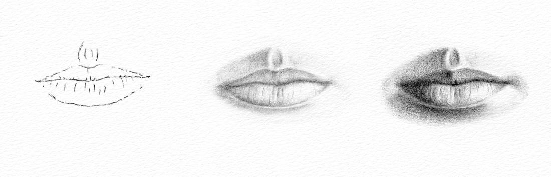 Pencil Portraits - How to Draw a Mouth