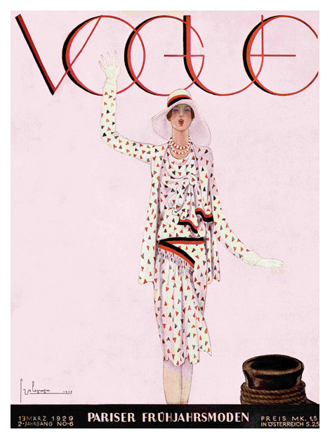 Vogue Marz 13, 1929 Cover Vintage Fashion Poster \u2013 Arty Posters