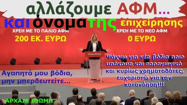 ΑΛΛΑΖΟΥΜΕ ΑΦΜ