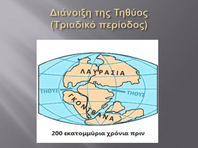 Διάνοιξη της Τηθύος (Τριαδικό περίοδος)