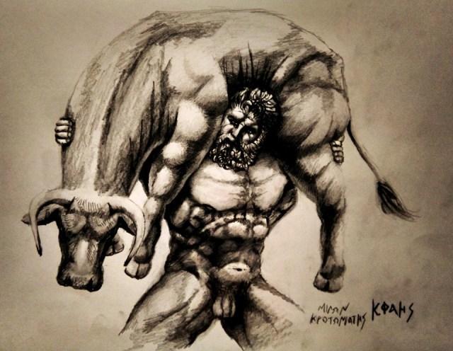 Αυτός είναι ο Μίλων ο Κροτωνιάτης, παλαιστής από την Μεγάλη Ελλάδα ο οποίος έζησε τον 6ο π.Χ. αιώνα
