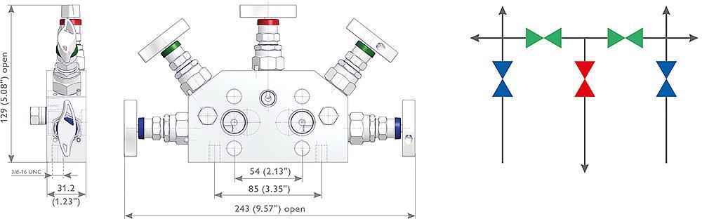 AS-Schneider - 5 Valve Manifolds 5D Type